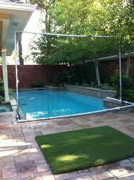backyard golf net diy home outdoor decoration