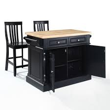 Powell Color Story Black Butcher Block Kitchen Island Incomparable Black Kitchen Islands With Butcher Block Top And