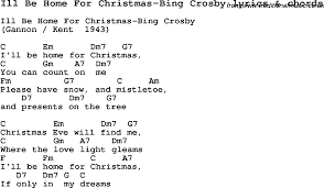 love song lyrics for ill be home for christmas bing crosby with