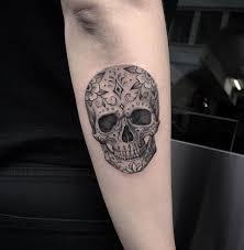 gray sugar skull sugar skull tattoos sugar skulls and