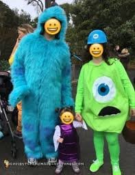 Monsters Baby Halloween Costumes Cool Homemade Monsters Family Costumes Sully Mike Wazowski