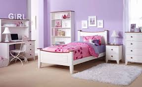 amazing white and purple color of minimalist furniture for girls