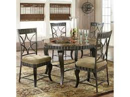 Room Store Dining Room Sets Steve Silver Hamlyn 5 Piece Round Faux Marble Top Metal Dining