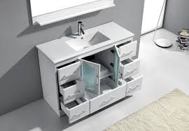 Zola Bathroom Furniture Virtu Usa Zola 48 Single Bathroom Vanity Cabinet Set In White