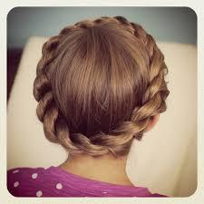 plait at back of head hairstyle crown rope twist braid updo hairstyles cute girls hairstyles
