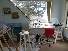 my painting studio at the beach box susan galick fine art