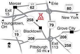 grove city outlet map mercer pennsylvania cground mercer grove city koa