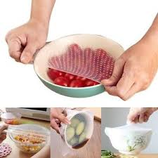 silicone cuisine 3 4 5pcs silicone stretch fresh food storage wraps cling seal