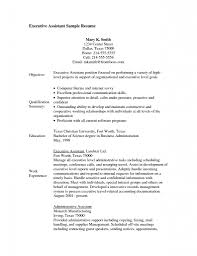 Resume Objective Examples Sample Resume Objectives For Administrative Assistant Template