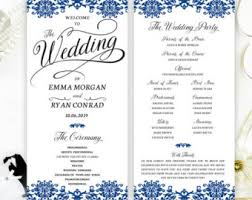 customizable wedding programs view wedding programs by lemonwedding on etsy