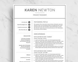 2 Page Resume Sample by Minimalist Resume Etsy