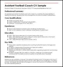 Soccer Coach Resume Example by Sample Coaching Resume Jennywashere Com