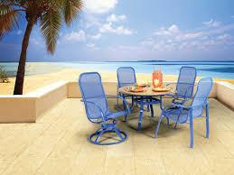 Homecrest Holly Hill by Homecrest Florida Mesh Aluminum Dining Set Fldinset