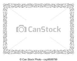 Decorative Frame Png Eps Vectors Of Simple Black Ornamental Decorative Frame Vector