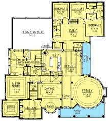 spacious one story castle 36365tx architectural designs