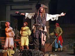 johnny depp surprises pirates of caribbean riders