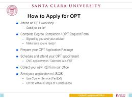 opt optional practical training global engagement office susan