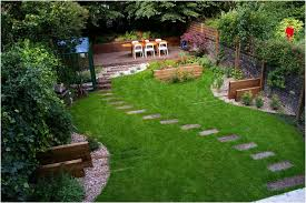 Sloped Backyard Ideas Backyards Gorgeous Landscape Sloped Backyard Design Ideas My