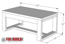 Coffee Tables Plans Diy Concrete Top Outdoor Coffee Table Fixthisbuildthat