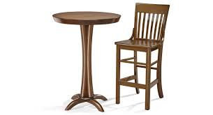 brunswick pub table and two 2 pub stool package chestnut jpg