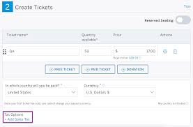 how to charge sales tax on tickets eventbrite help center