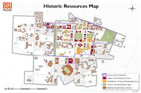 University Of Oregon Campus Map by Osu National Historic District Map Finance And Administration
