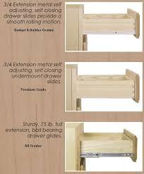 b3d30 kitchen 3 drawer base cabinet 30w x 34 12h 24d parts slide