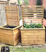 trellis planter box woodworking plans and information at