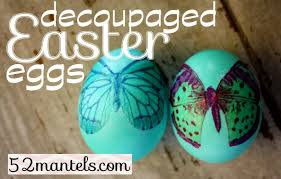 Easter Egg Decorating At Home by Decoupaged Easter Eggs Its Overflowing Simply Inspired Home Living