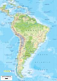 map of south america and mexico map of south america