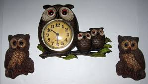 Owl Patio Lights by Vintage Owl Collectibles Lights Wall Hangings And Clocks