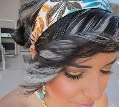 grey streaks in hair gorgeous exles of dyed gray hair