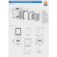 Wall Mounted Cabinet With Glass Doors by Wall Cabinets Server Rack 19 Server Rack Wall Mount Cabinets