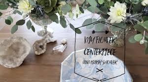 diy flower centerpiece baby shower youtube