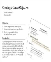 Job Objective In Resume by How To Write A Attention Grabbing Career Objective Do U0027s U0026 Don U0027ts