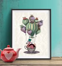 alice in wonderland print dodo bird balloon air balloon