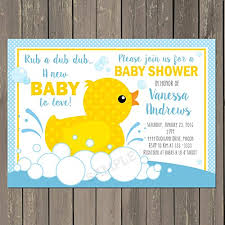 duck baby shower invitations rubber duck baby shower invitation rubber ducky baby