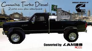Dodge Challenger Mods - dodge cummins snow plow turbo diesel v1 0 farming simulator 2017