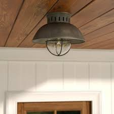 Light Fixture Ceiling Outdoor Flush Mount Lights You Ll Wayfair