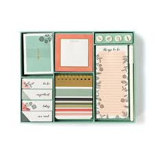paper graphic floral large desk set my mind s eye paper goods Floral Desk Accessories