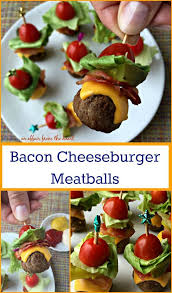 bacon cheeseburger meatballs recipe bacon ads and foods