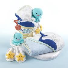Beach Themed Gifts Beach Buddies 3 Piece Bathtime Bucket Gift Set Unique Baby Gift