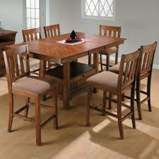 rectangle counter height dining table jofran saddle brown rectangular counter height dining table and 6