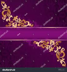 purple banner gold ornate ornaments stock vector 71736091