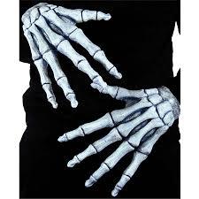 skeleton ghostly bones hands grim reaper halloween fancy dress 3d