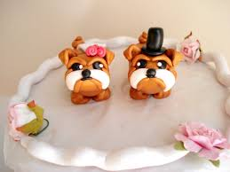 bulldog cake topper bulldog wedding cake toppers and groom bulldog cake toppers
