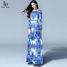 blue and white floor length dress other dresses dressesss