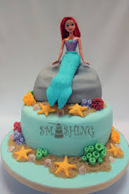 smashing cake designs ariel birthday cake