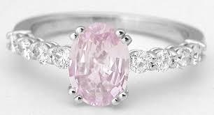 light pink engagement rings light pink sapphire rings in 14k white gold gr 5911