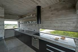 polished concrete work plan for the island in the kitchen design